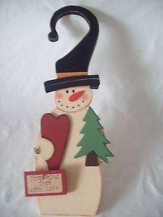 $17.98/FREE *domestic* SHIPPING Christmas Decoration Door Knob Hanger Winter Snowman Home Decor Accent