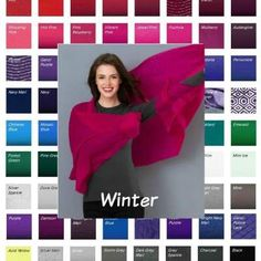 Seasonal color analysis Winter - Winter color palette from Kettlewell Colours www. Cool Winter Color Palette, Deep Winter Colors, Deep Winter Palette, Clear Winter, Dark Winter, Color Type, Winter Typ, Seasonal Color Analysis, Colors For Skin Tone