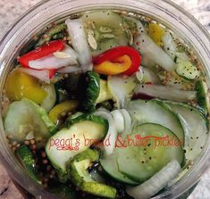 These are soooo good & last a long time in fridge, if you allow them to! Bread N Butter Pickle Recipe, Bread & Butter Pickles, Pickeling Recipes, Canning Recipes, Homemade Pickles, Pickles Recipe, Vegetable Appetizers, Pinch Recipe, Cucumber