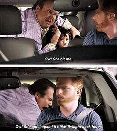 "Modern Family ""It's like Twilight back here!"" Love this show!"