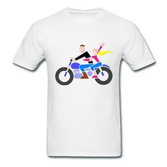 Riding Motorcycle Men's T-shirt on Sale-Vehicles T-shirts with 98% happy customers! Create custom shirts and personalized goods at http://hicustom.net/,Use our online designer to add your design, logos, or text. easily!