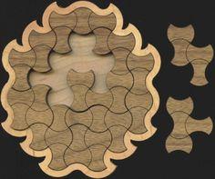 Knit Pagoda Wood Puzzle