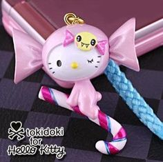 Tokidoki Cell Phone Charms   tokidoki x Sanrio Hello Kitty Charm and Cell Phone Strap - Candy Cane ... Price Comparison, Sanrio Hello Kitty, Candy Cane, Kawaii, Christmas Ornaments, Holiday Decor, Charms, Phone, Telephone
