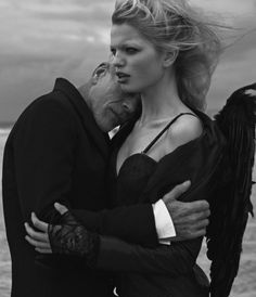 Daphne by Photographer Peter Lindbergh -- Portrait - Fashion - Editorial - Black and White - Photography - Pose Idea