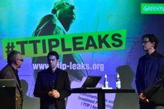Greenpeace julkisti TTIP-neuvotteluista vuotaneet asiakirjat maanantaina Berliinissä.