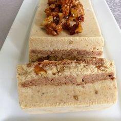 Bûche glacée au mascarpone et aux noix caramélisées (sans gluten)