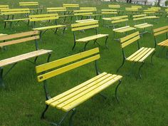 Yellow Benches at the Bandshell | Flickr - Photo Sharing!