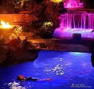 Resultado de imagem para pool waterfall lights