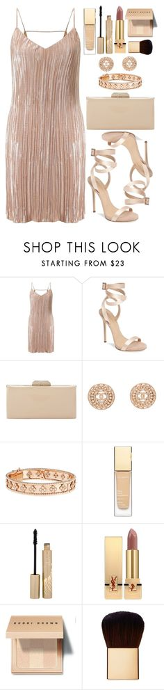 """Untitled #4501"" by natalyasidunova ❤ liked on Polyvore featuring Miss Selfridge, Giuseppe Zanotti, Dune, Chanel, Van Cleef & Arpels, Clarins, Stila, Yves Saint Laurent, Bobbi Brown Cosmetics and AERIN"