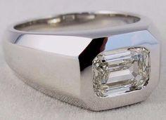 Men's Solitaire Diamond Ring 2.00 Ct. VS1-K by ElevateJewelryLA
