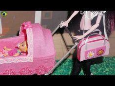 Como fazer bolsa de bebê para boneca Monster High, Barbie, MLP, EAH, etc - YouTube