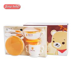 ==> [Free Shipping] Buy Best 6pcs/set Baby Feeding Set with Sucker Bowl Food Grade PP Fork Spoon Cup Plate Dinnerware Set Children Anti-Scald Tableware Online with LOWEST Price | 32817389874