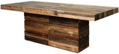 verge dining table made of reclaimed wood abc carpet & home