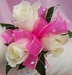 hot pink corsage - Google Search