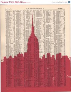 Book Page Print - New York | Nesta Home