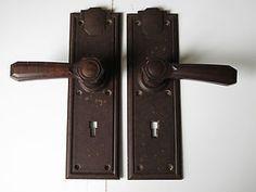 Pair of Bakelite Art Deco Door Handles