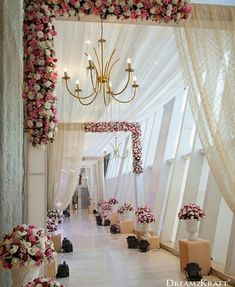 Wedding ceremony pictures Wedding entrance Wedding stage decorations Wedding entrance decor Wedding hall decorations Wedding arch - A dreamy pathway for your dream wedding Weddingideas weddingp - Wedding Ceremony Pictures, Wedding Reception Backdrop, Wedding Chairs, Wedding Table, Wedding Scene, Wedding Church, Party Wedding, Wedding Bride, Wedding Mandap