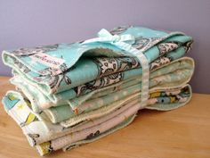 Burp Cloth Gift Set   you choose any 3 by iheartartandbaby on Etsy, $19.00