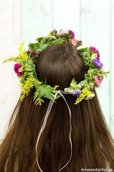 DIY summer flower crown- DIY corona de flores para los días de verano