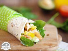 Ooomnomnomnom !: Dietetyczna tortilla z grillowanym kurczakiem i szpinakiem