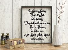 Those we love don't go away quote, Memorial quote, Missing you floating frame, Rest in peace quote, Remeber loved one by CreativeCraftRooms on Etsy https://www.etsy.com/listing/410652646/those-we-love-dont-go-away-quote