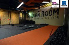 Neoflex 500 Series Rubber Fitness Flooring @ The Burn Room CrossFit Gym, Dubai, UAE