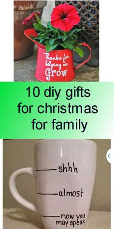 10 diy gifts for christmas for family - Simple Diy, Easy Diy, Diy Tutorial, Diy Gifts, Christmas Gifts, Diy Projects, Mugs, Tableware, Xmas Gifts