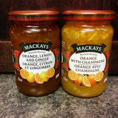 I cannot wait to eat these!!! I don't know which one to try first....I will have to open them both. #ilovemarmalade #MacKays #Scotland