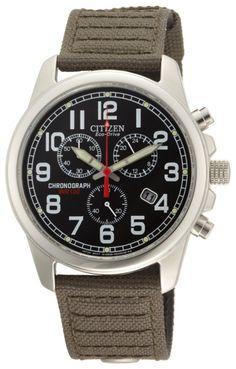 Amazon.com  Citizen Men s AT0200-05E Eco-Drive Chronograph Canvas Watch  ffc534a82b