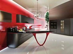 Love a good kitchen and a Ferrari? You can have both with the Pininfarina and Snaidero OLA 25 Ferrari Kitchen Source by Elegant Kitchens, Cool Kitchens, Open Kitchens, Kitchen Models, Cuisines Design, Modern Kitchen Design, Kitchen Designs, Decoration, Home Appliances