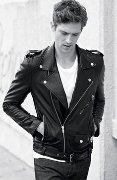 BLK DNM 'Leather Jacket 5' Leather Moto Jacket