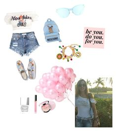 A fashion look from April 2018 featuring white off the shoulder top, floral shoes and blue backpacks. Browse and shop related looks. Floral Shoes, White Off Shoulder, Summer Time, Moschino, Fashion Looks, Polyvore, Floral Toms, Daylight Savings Time, Summer