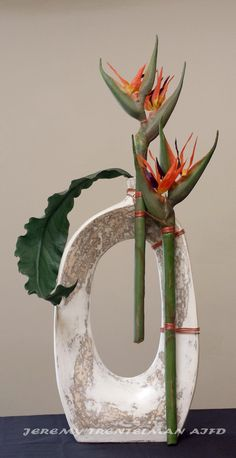 Permanent Botanical birds of paradise arrangement