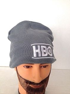 HBO DOCUMENTARY FILM  STOCKING CAP HAT BEANIE - EMBROIDERED LOGO - GRAY #HaT #Beanie