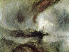 William Turner Storm. Steam Boat off a Harbours Mouth Making Signals and Going by the Lead, 1842