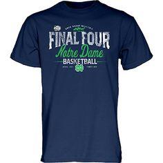Notre Dame Fighting Irish Women's Basketball 2015 Final Four T-Shirt Notre Dame Womens Basketball, Notre Dame Football, Basketball Shirts, College Basketball, College World Series, Ncaa College, Final Four, Fighting Irish, Irish Men