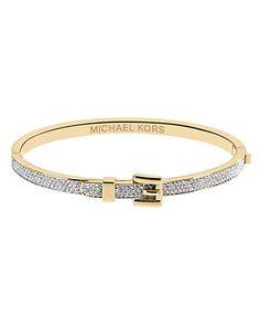 Michael Kors Pave Buckle Bangle Bracelet | Bloomingdale's