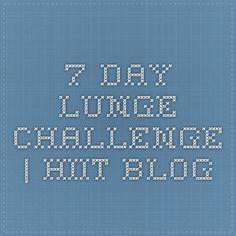 7-Day Lunge Challenge   Hiit Blog