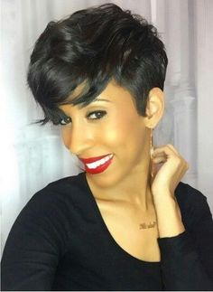 short wigs Pixie wigs short hairstyles short haircut lace front wigs human hair wigs wigs for black women african american wigs My Hairstyle, Wig Hairstyles, Pretty Hairstyles, Summer Hairstyles, Black Hairstyles, Relaxed Hairstyles, Bridal Hairstyle, Short Hair Cuts, Short Hair Styles