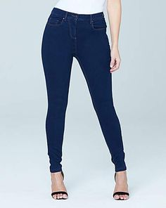 Lucy High Waist Skinny Jeans Short | Simply Be