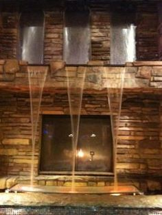 Dream Direct Vent Gas Fireplace,$7,648.00, waterfall above ...