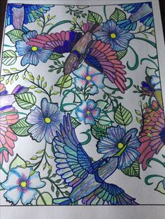 Nature Adult Coloring Pictures by Vicki Carpenter