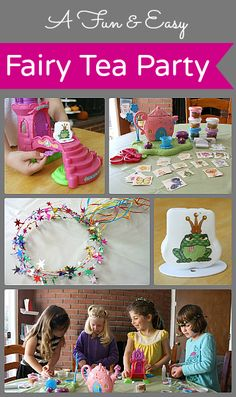 A Fun Fairy Tea Party Playdate! (Includes a simple fairy tiara tutorial!) ~Buggy and Buddy