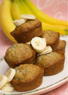 Los muffins de plátano se inspiran en una receta del siglo XIX llamada 'Banana Bread'. Se usaban puré de plátanos maduros y de esta forma se a provechan.