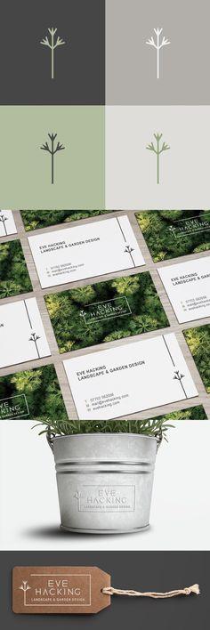 Eve Hacking Landscape & Garden Design logo and branding by Katy Clemmans www.katyclemmans.co.uk