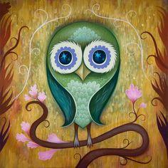 Day Owl Print - Jeremiah Ketner