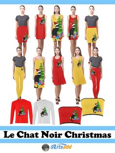 Christmas holiday fashion with Le Chat Noir. With her Santa Hat, she is ready for Yule Time festivities! #SpoofingTheArts #Artsadd #Gravityx9