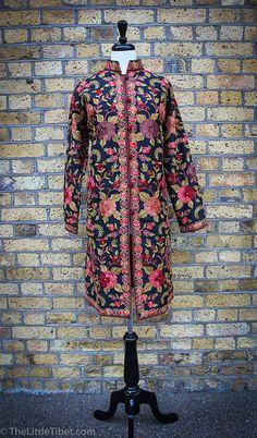 Fully Embroidery Silk Jacket Handmade Silk Long by TheLittleTibet