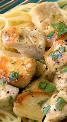 Lemon Garlic Slow Cooker Chicken ~ Juicy, tender and savory