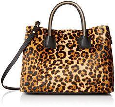 Milly Logan Haircalf Convertible Top Handle Bag
